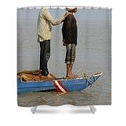 Life On Lake Tonle Sap 4 Shower Curtain