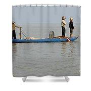 Life On Lake Tonle Sap 5 Shower Curtain