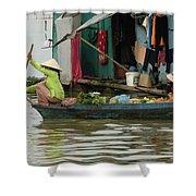 Life On Lake Yonle Sap 9 Shower Curtain
