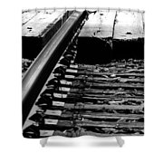 Life On The Line Shower Curtain