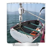 Lifeboat From The Schooner Margaret Todd Shower Curtain