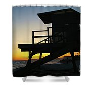 Lifeguard Silhouette Shower Curtain