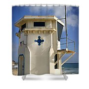 Lifeguard Tower Shower Curtain