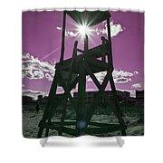 Lifeguard Tower II Shower Curtain