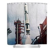 Lift-off Of Gemini-titan 11, Cape Shower Curtain