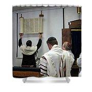 Lift Up The Torah Shower Curtain