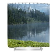 Lifting Fog On The Yellowstone Shower Curtain
