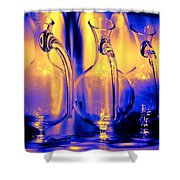 Light And Colors Play I Shower Curtain by Jenny Rainbow
