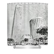 Light And Perspective Shower Curtain