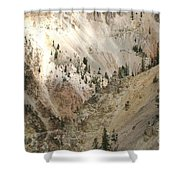 Light And Shadows In The Grand Canyon In Yellowstone Shower Curtain