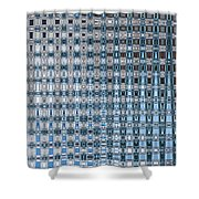 Light Blue And Gray Abstract Shower Curtain