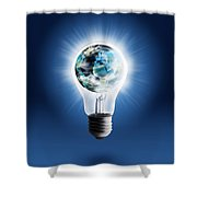 Light Bulb With Globe Shower Curtain
