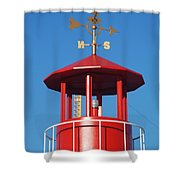 Light House On Coney Island Shower Curtain