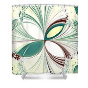 Light In The Darkness White Shower Curtain