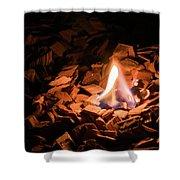 Light Of Fire Creates Coziness ... Shower Curtain