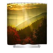 Light On The Moutain Shower Curtain