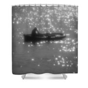 Light Surface Shower Curtain