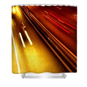Light Trails Shower Curtain by Carlos Caetano
