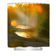 Light Up The Creek Shower Curtain
