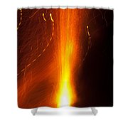 Light Waves Dancing Around The Flames Of A Fire Cracker Shower Curtain