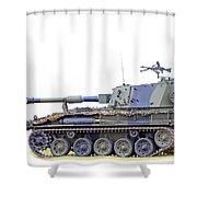 Light Weight Battle Tank Shower Curtain