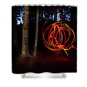 Light Writing In Woods Shower Curtain
