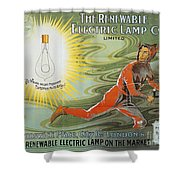 Lightbulb Ad, 1900 Shower Curtain