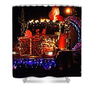 Lighted Cement Truck Shower Curtain