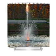 Lighted Fountain Shower Curtain