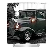 Lighted Old Black And White Shower Curtain