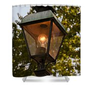 Lighted Street Lamppost Shower Curtain