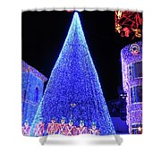 Lighted Xmas Tree Walt Disney World Shower Curtain