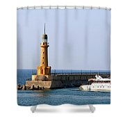 Lighthouse Along The Corniche Shower Curtain