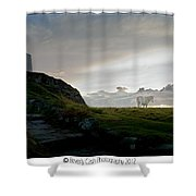 Lighthouse And Horse Shower Curtain