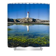 Lighthouse And Tide Pool Shower Curtain