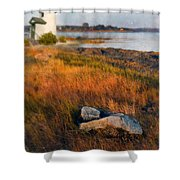 Lighthouse At Dawn Shower Curtain