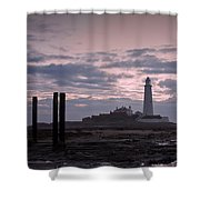 Lighthouse At Low Tide II Shower Curtain