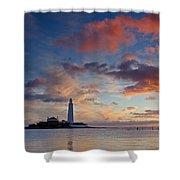 Lighthouse At Sunrise Shower Curtain