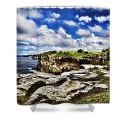 Lighthouse At Watson Bay Shower Curtain