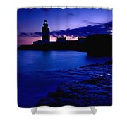 Lighthouse Beacon At Night Shower Curtain