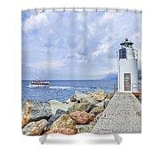 Lighthouse Camogli Shower Curtain