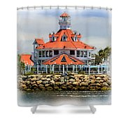 Lighthouse Charm Shower Curtain