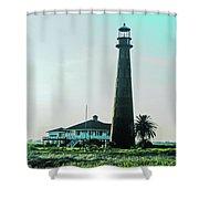 Lighthouse Galveston Shower Curtain