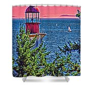 Lighthouse Hdr Shower Curtain