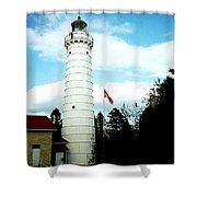 Lighthouse In Door County Shower Curtain