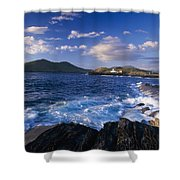 Lighthouse In The Distance, Fort Point Shower Curtain