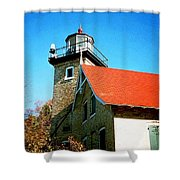 Lighthouse In The Fall Shower Curtain