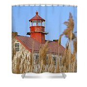 Lighthouse In Wheat Field Shower Curtain