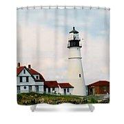 Lighthouse Maine Shower Curtain