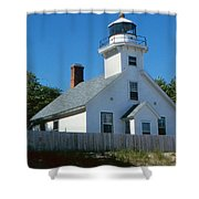 Lighthouse Near The Beach Shower Curtain